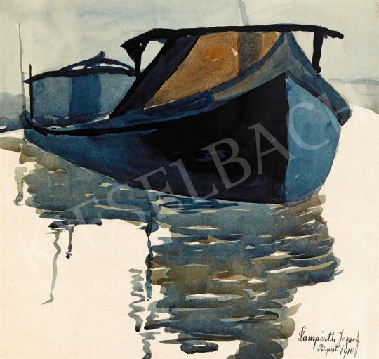 Nemes Lampérth József - Uszály a Dunán, 1910 | 56. Őszi Aukció aukció / 51 tétel
