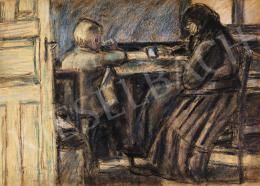 Nagy István - Asztalnál, 1915