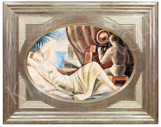 Gábor Jenő - A rádió hőskora (Art deco jelenet), 1920-as évek eleje | 56. Őszi Aukció aukció / 54 tétel
