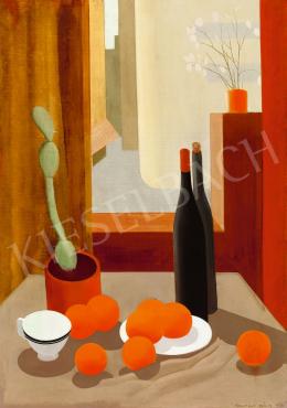 Kontuly Béla - Csendélet kaktusszal és narancsokkal, 1933