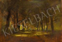 Mednyánszky László - Napfényes fasor a kastélyparkban, 1910-es évek