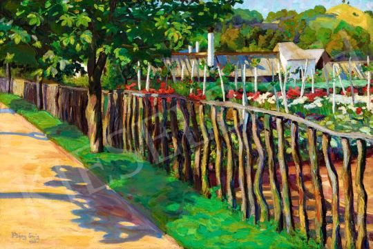 Plányi Ervin - Virágoskert Nagybányán (Bolgárkertészet Nagybányán), 1906 | 56. Őszi Aukció aukció / 80 tétel