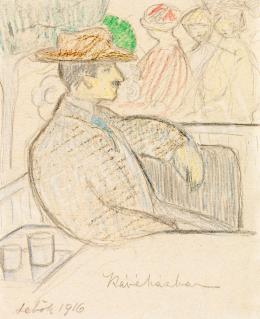 Sebők, Margit - In the Café, 1916