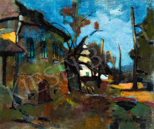 Nagy, Oszkár - Street in Felsőbánya (Blue Sky) | 56th Autumn Auction auction / 87 Lot