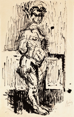 Berény Róbert - Álló női akt, 1911