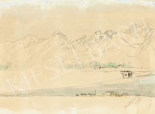 Mednyánszky, László - 19 drawings - Tatra Landscape | 56th Autumn Auction auction / 192 Item