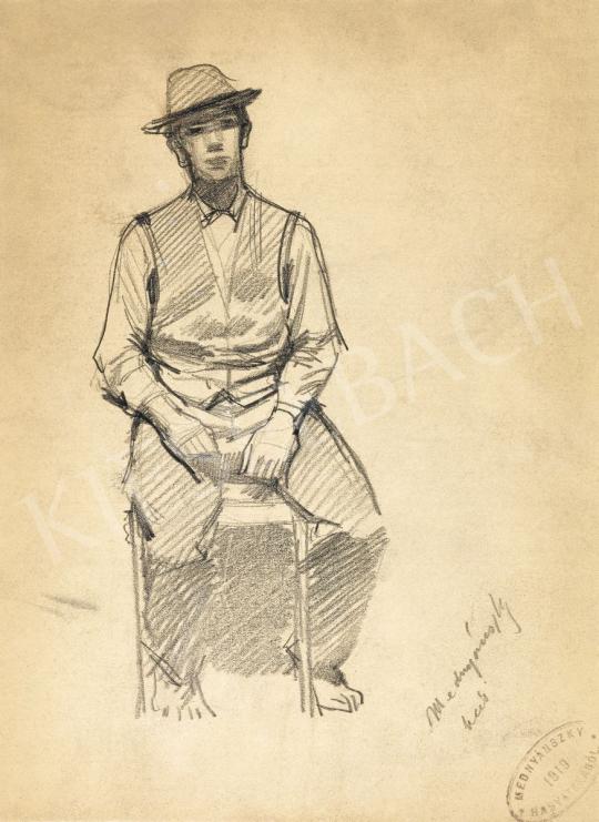 Mednyánszky, László - 19 drawings - Boy Sitting on a Chair | 56th Autumn Auction auction / 192 Item
