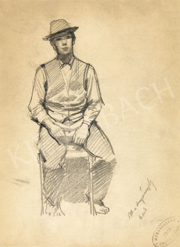 Mednyánszky, László - 19 drawings - Boy Sitting on a Chair