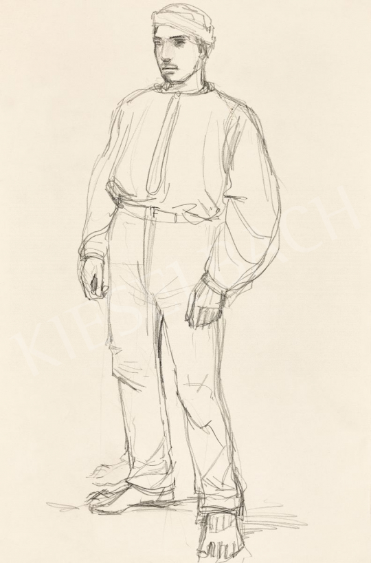 Mednyánszky, László - 19 drawings - Boy Standing | 56th Autumn Auction auction / 192 Item