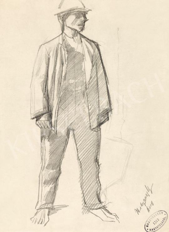Mednyánszky László - 19 rajz - Kalapos fiú | 56. Őszi Aukció aukció / 192 tétel