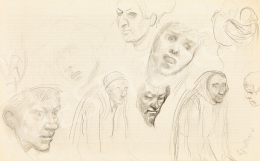 Mednyánszky, László - 19 drawings - Faces