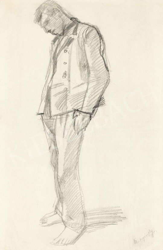 Mednyánszky László - 19 rajz - Lehajtott fejű katona | 56. Őszi Aukció aukció / 192 tétel