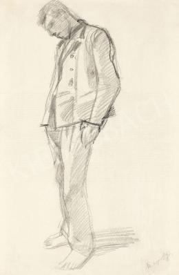Mednyánszky László - 19 rajz - Lehajtott fejű katona