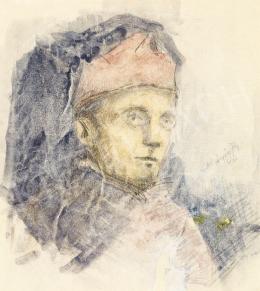 Mednyánszky László - 19 rajz - Fiatal katonatiszt