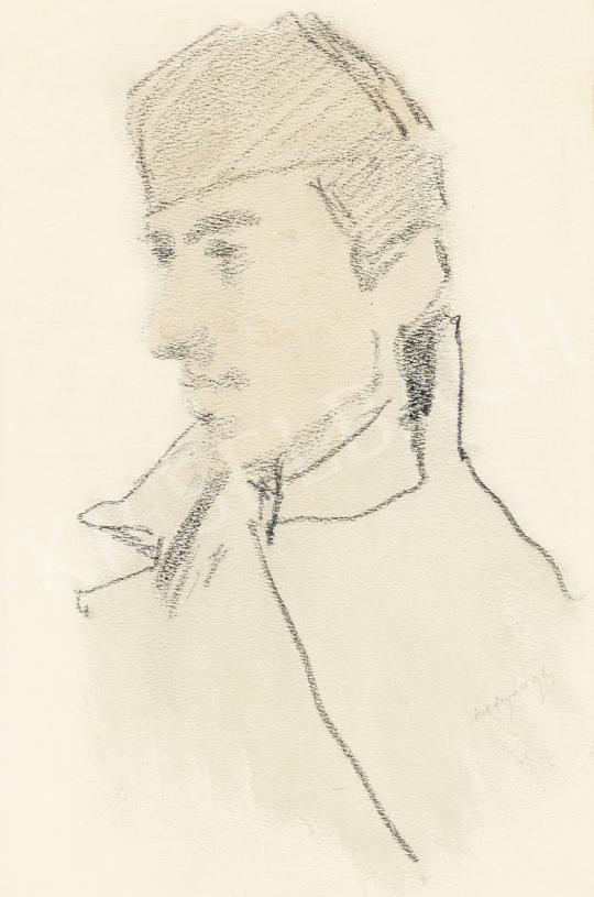 Mednyánszky László - 19 rajz - Katona profilból | 56. Őszi Aukció aukció / 192 tétel