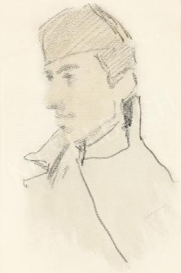 Mednyánszky László - 19 rajz - Katona profilból