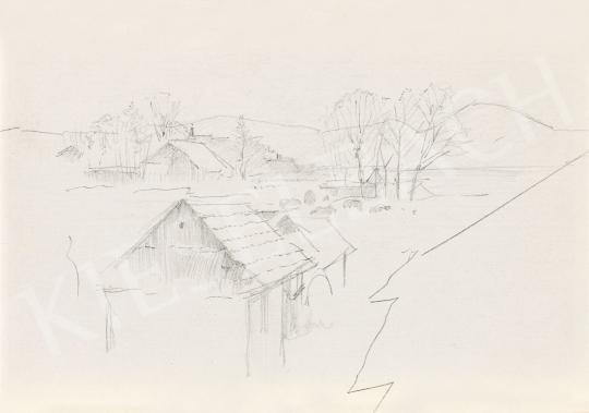 Mednyánszky László - 19 rajz - Hegyi falu | 56. Őszi Aukció aukció / 192 tétel