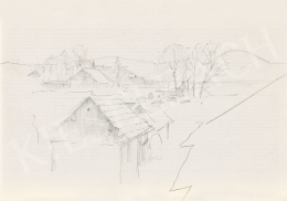 Mednyánszky László - 19 rajz - Hegyi falu