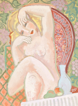Kádár, Béla - Nude on a Garden Chair (Art Deco Nude)