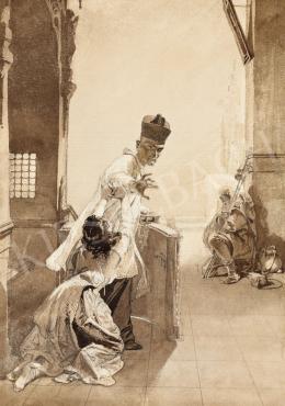 Zichy Mihály - Spanyol szépség az El Caminón, 1860-as évek