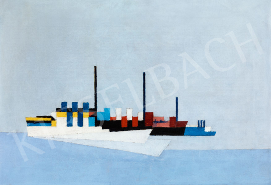 Maatsch, Thilo - Konstruktivista kompozíció (Hajók), 1927 | 56. Őszi Aukció aukció / 6 tétel