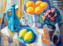 Rafael Győző Viktor - Műtermi csendélet narancsokkal