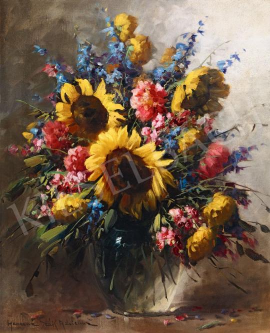 Henczné Deák Adrienne - Virágcsendélet | 56. Őszi Aukció aukció / 49 tétel