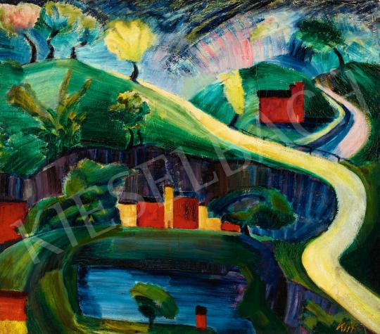 Klie Zoltán - Mesebeli táj (Kompozíció), 1926 | 56. Őszi Aukció aukció / 56 tétel