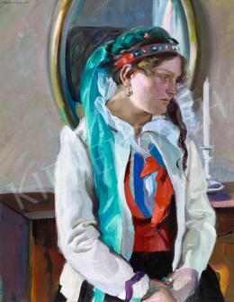 Grom-Rottmayer, Hermann - Fiatal lány szobában
