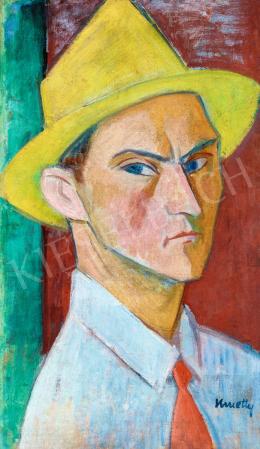 Kmetty, János - Self-Portrait with a Hat, 1920s