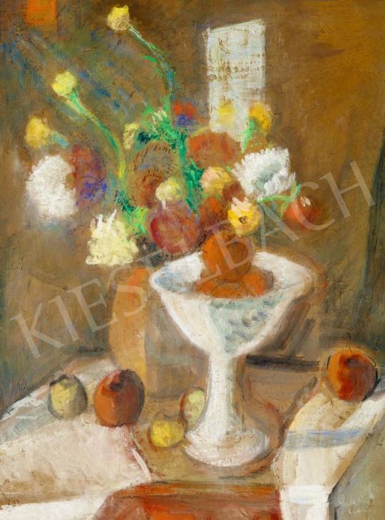 Perlrott Csaba Vilmos - Műtermi csendélet virágokkal | 56. Őszi Aukció aukció / 124 tétel