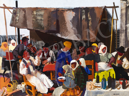 Aba-Novák, Vilmos - Fry-Up Stall in Szolnok, 1933 | 56th Autumn Auction auction / 125 Item