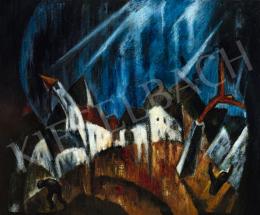 Schadl János - Falu viharban, 1922