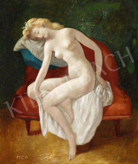 Molnár C., Pál - Nude Resting | 56th Autumn Auction auction / 140 Item