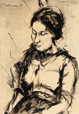 Derkovits Gyula - Fiatal lány, 1919