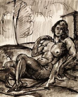 Pór Bertalan - Vázlat a Vágyódás tiszta szerelemre című képhez, 1910 körül
