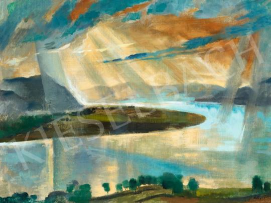 Szőnyi István - Vihar utáni fények a Duna felett, 1920-as évek második fele | 56. Őszi Aukció aukció / 157 tétel