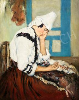 Glatz, Oszkár - Young Woman in Folks Costume