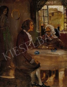 Gulácsy Lajos - Oliver megkéri Olivia kezét, 1910 körül