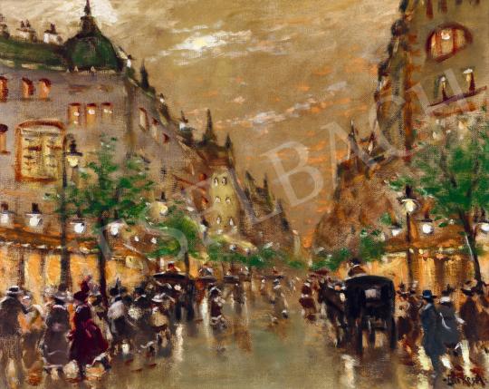 Berkes Antal - Esti fények eső után a Boulvard-on | 56. Őszi Aukció aukció / 174 tétel