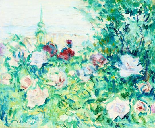 Csók István - Kilátás a rózsák közül | 56. Őszi Aukció aukció / 179 tétel