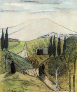 Gulácsy Lajos - Itáliai táj alakokkal