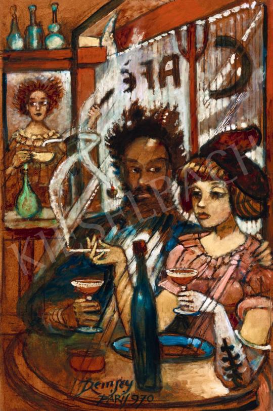 Remsey Jenő György - Randevú (Párizsi kávéház) | 56. Őszi Aukció aukció / 126 tétel