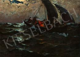 Komáromi-Kacz, Endre (Komáromi Katz Endre) - The Sailing Boat