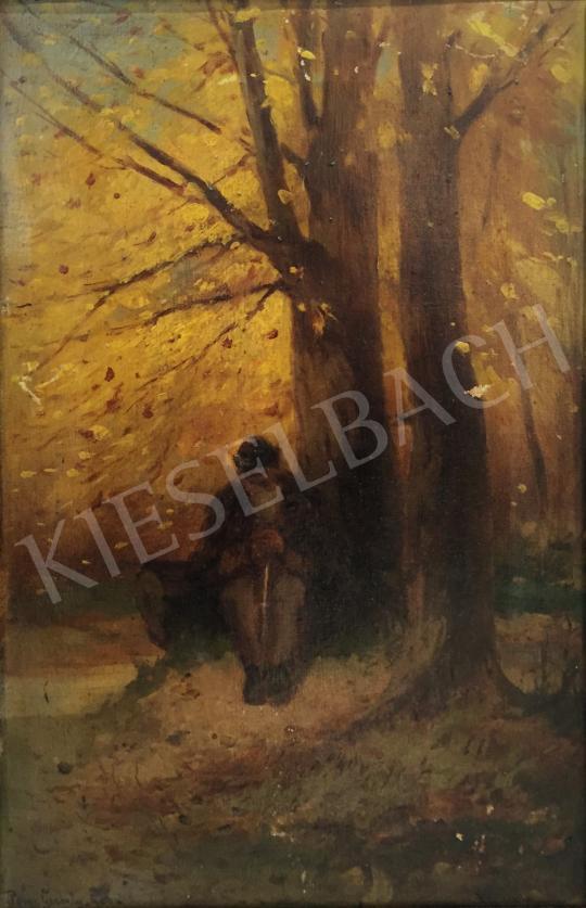 Eladó Pörge Gergely - Őszi erdőben (Mulandóság) festménye