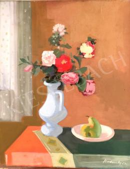 Medveczky Jenő - Csendélet virágokkal