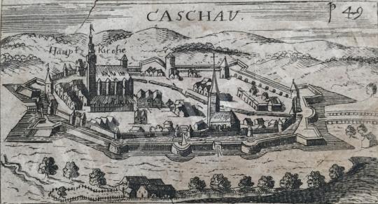 Eladó  Ismeretlen alkotó 1600-as évek - Kassa látképe festménye