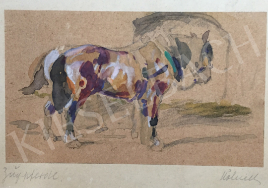 For sale  Höhnel  Wilhelm  - Horse in the Stable 's painting