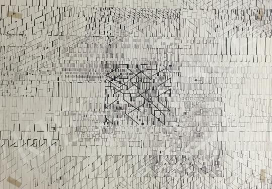 Gyarmathy Tihamér - Átfedések festménye