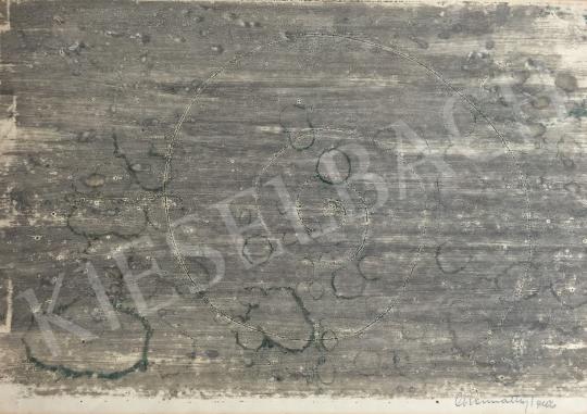 For sale Gyarmathy, Tihamér - Gray World- Green Spots 's painting